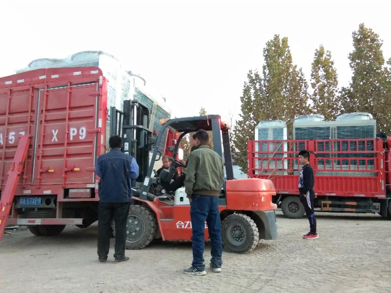 风冷模块机组发货现场,130KW,300Kw模块机