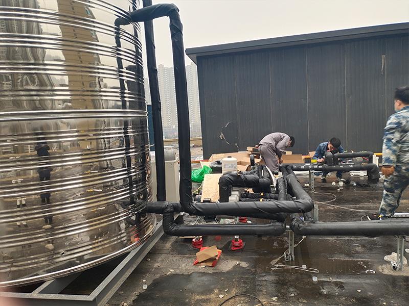 空气能热水工程整体系统施工安装讲解